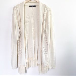 Bke Boutique Ruffle Hem Cardigan Sweater